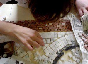 Realizzazione del mosaico del ponte romano di Savignano sul Rubicone