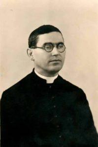 Archivio storico Museo Archeologico del Compito: Ritratto di don Giorgio Franchini, giovane sacerdote (coll. Anna Biagini)